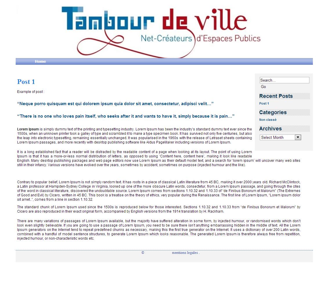 Tambour de Ville